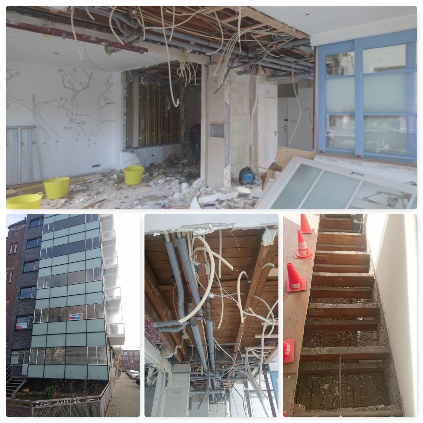 Start sloopwerk verbouw appartement te Rotterdam